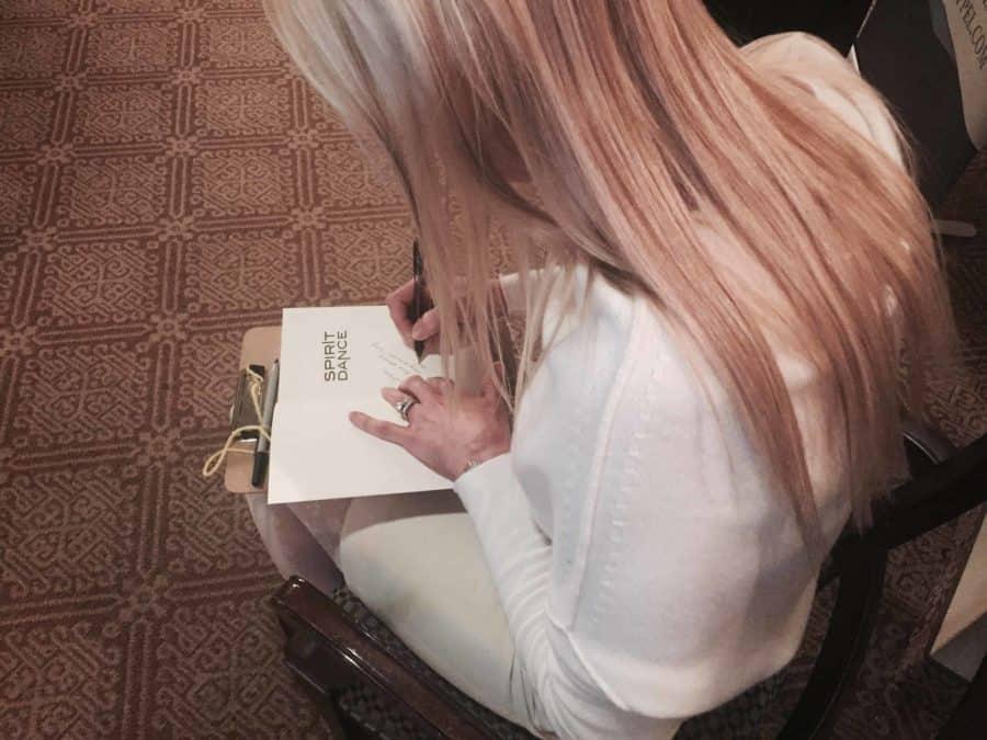 E.L Chappel signing books